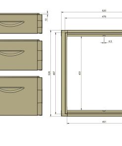Размеры 12-рамочного улья, чертеж 12-рамочного улья, чертеж улья аргон 12 рамок, корпус 12 рамочный