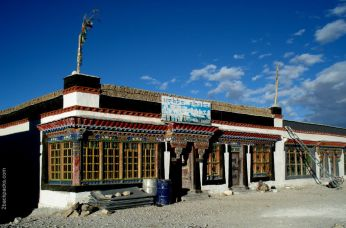 A house next to the only street of Old Tingri, Tibet