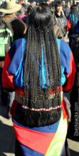 Traditional tribal hairdress