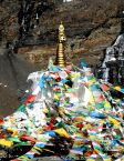 A stupa at a mountain pass, Tibet