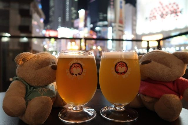 White Ale and 3C Hop Beer at Hitachino Microbrewery Akihabara