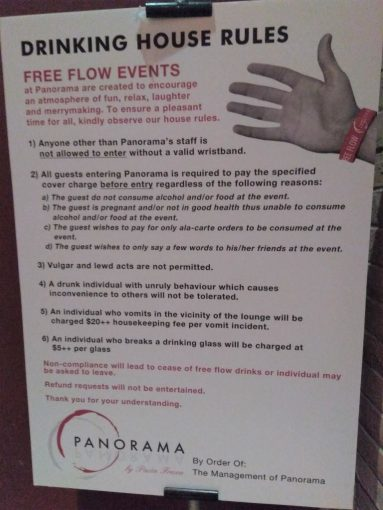 Panorama Riverside Lounge Free Flow Fridays  Free Flow Alcohol in     Panorama Riverside Lounge Free Flow Events House Rules