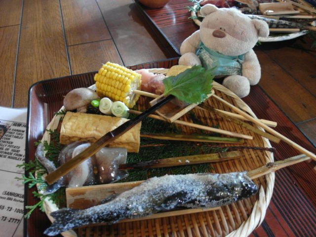 Hida (飛騨) set (2000 yen) Sanrokuen Restaurant