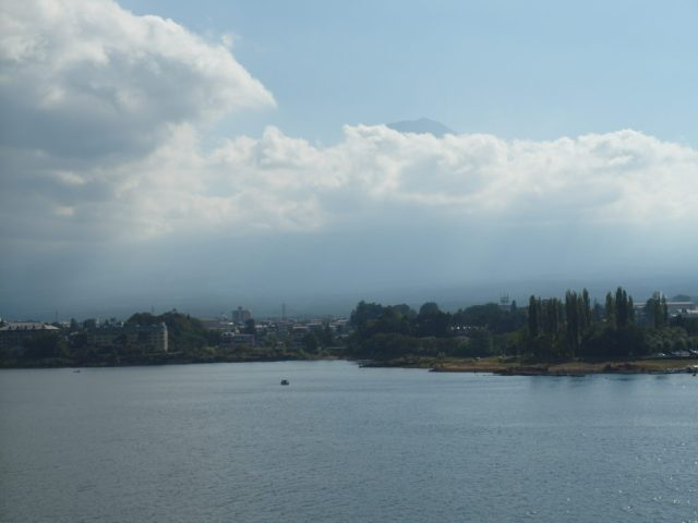 Clouds covering Mount Fuji at first :(