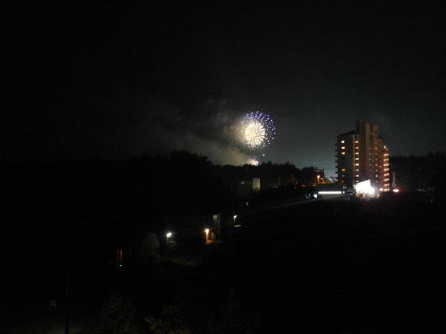 Fireworks at Mt Fuji area