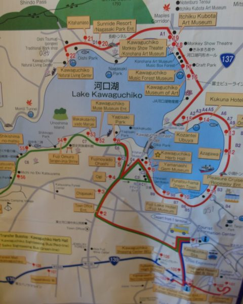 Sightseeing Bus Tour Red Line Lake Kawaguchiko Attractions