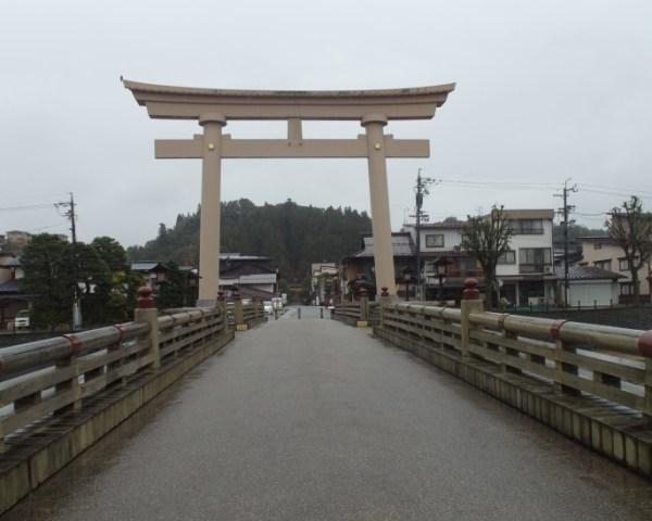 Torii Gate Miyamae Bridge Takayama