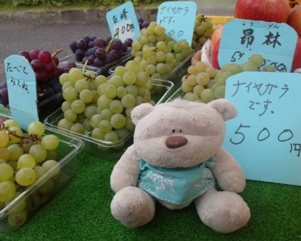 Tasty Champagne Grapes @ Jinya-Mae Morning Market (陣屋前朝市) Takayama