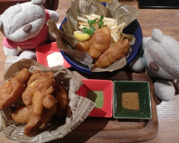 Koyoen Craft Beer Nagoya - Fish and Chips and Fried Mushrooms