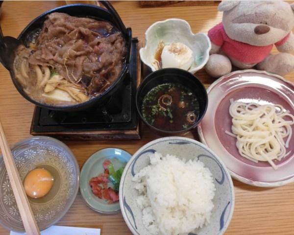 Hida Takuma Hidagyu Sukiyaki Set (4400 yen) cooked!