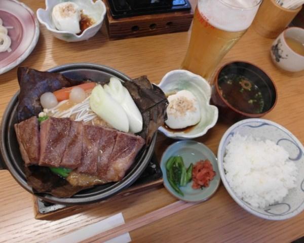 Hida Takuma Hidagyu Beef Steak Set (4600 yen)