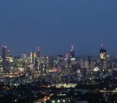 Night View of Brisbane CBD from Mount Coot-tha