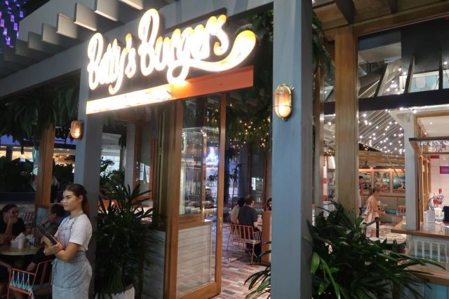 Entrance of Betty's Burgers Chermside Westfield