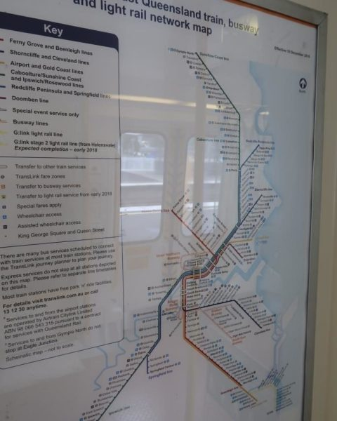 Brisbane Train Network from Eagle Junction to Nambour