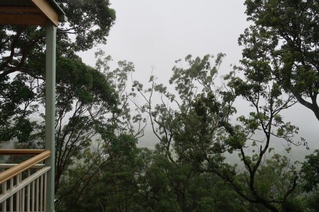 Supposedly nice view from Castle Glen - Unfortunately, it was a foggy/rainy day :(