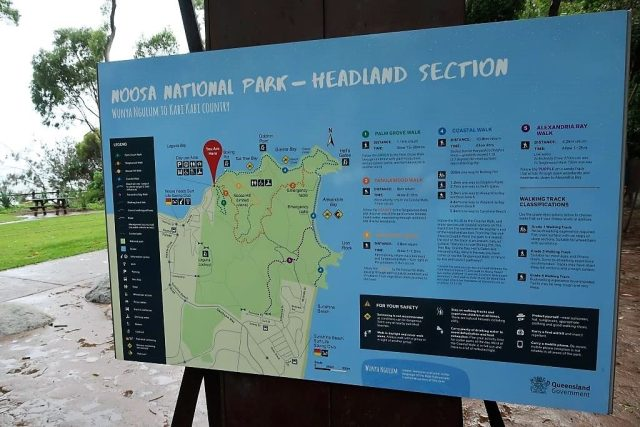 Map and landmarks of Noosa National Park