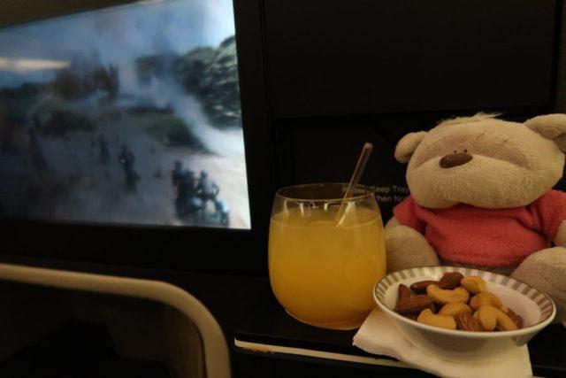Singapore Airlines Business Class in-flight entertainment - KrisWorld