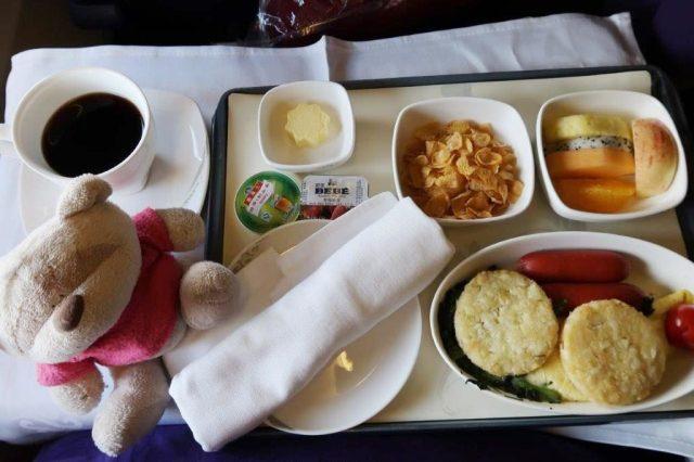 Air China Business Class Beijing to Busan Western Food