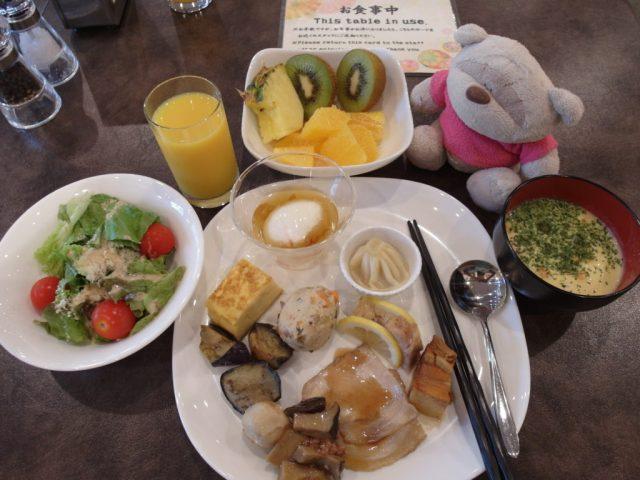 Kate's breakfast at Konanso Fuji Kawaguchiko Onsen Hotel