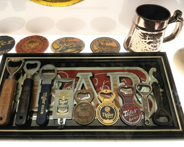 Various Tiger Beer Bottle Openers through the years