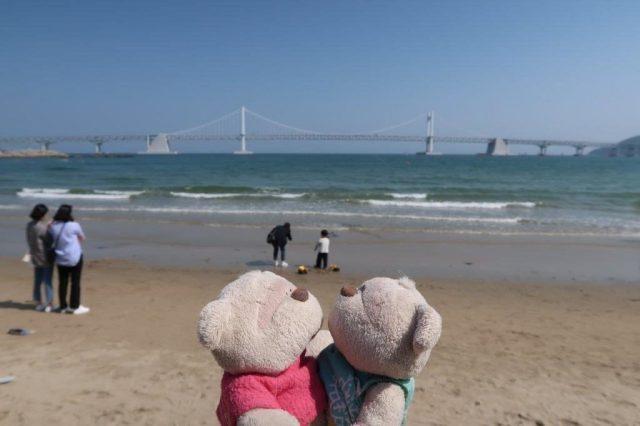 Arriving at Gwangalli Beach Busan
