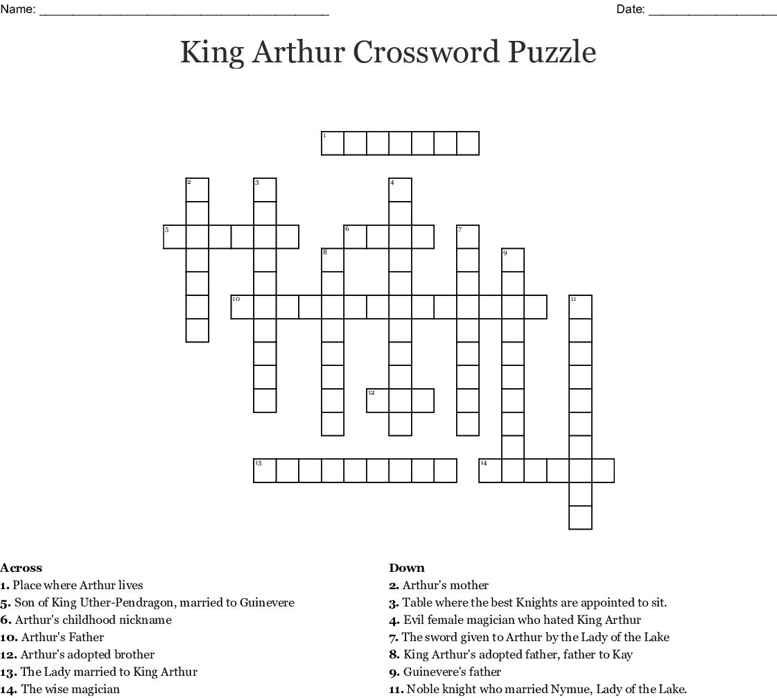 King Arthur Review Crossword Puzzle