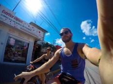Riding our bikes, Tulum