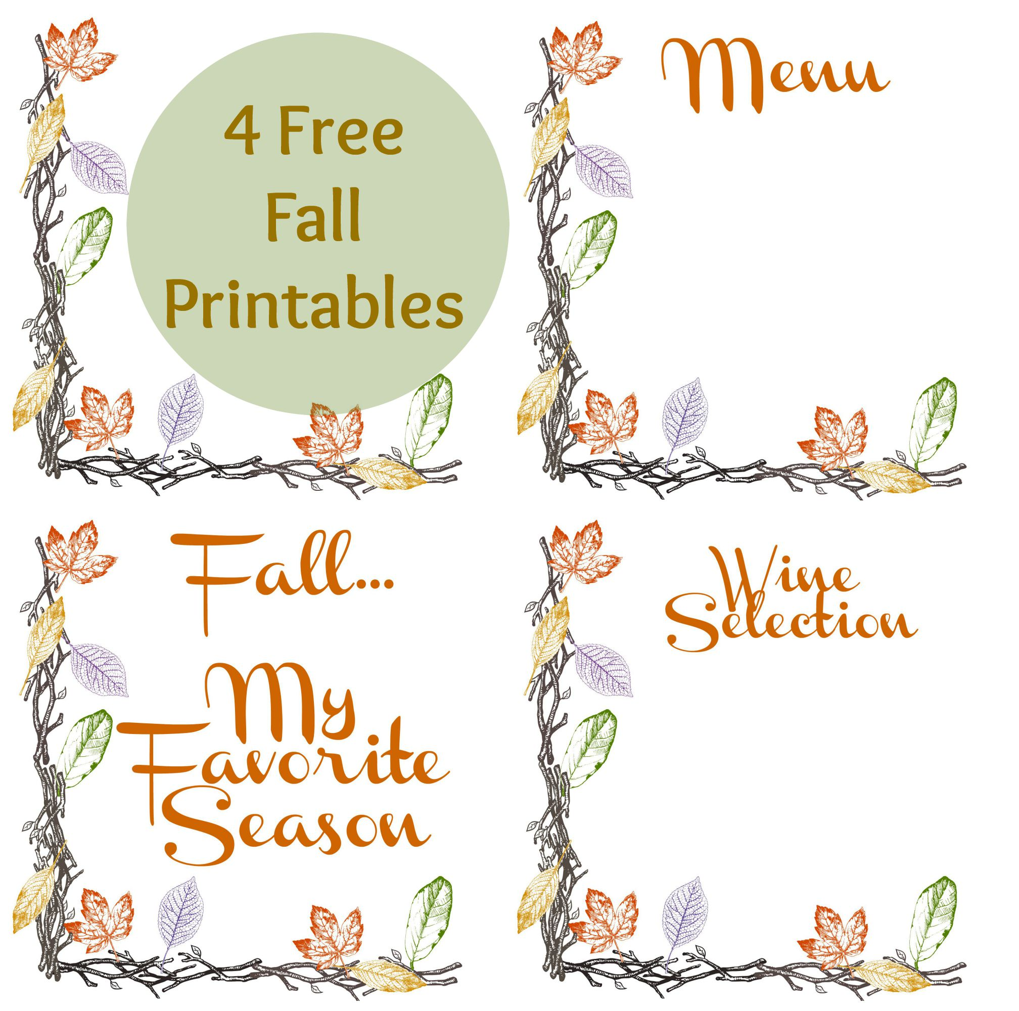 Rustic Wine Sign And Free Fall Printables