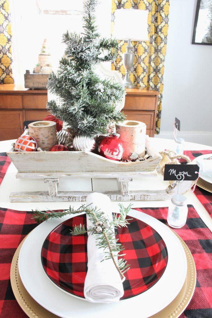 Buffalo Check Christmas Tablescape 2 Bees In A Pod