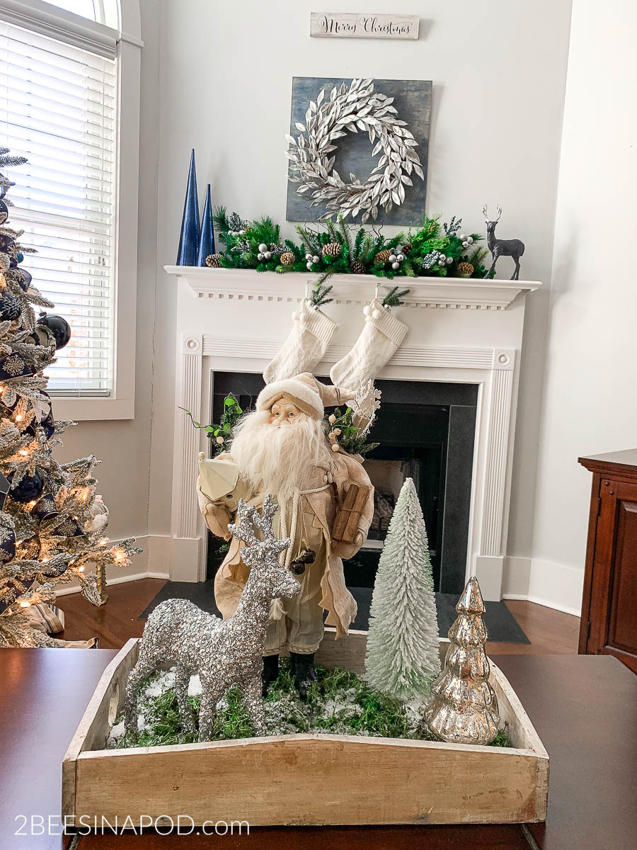 christmas coffee table vignette 2