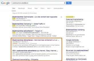 seo resultaten in de zoekmachine