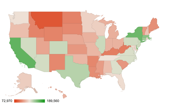 How Much Do Lawyers Make? This Chart Breaks it down by State.