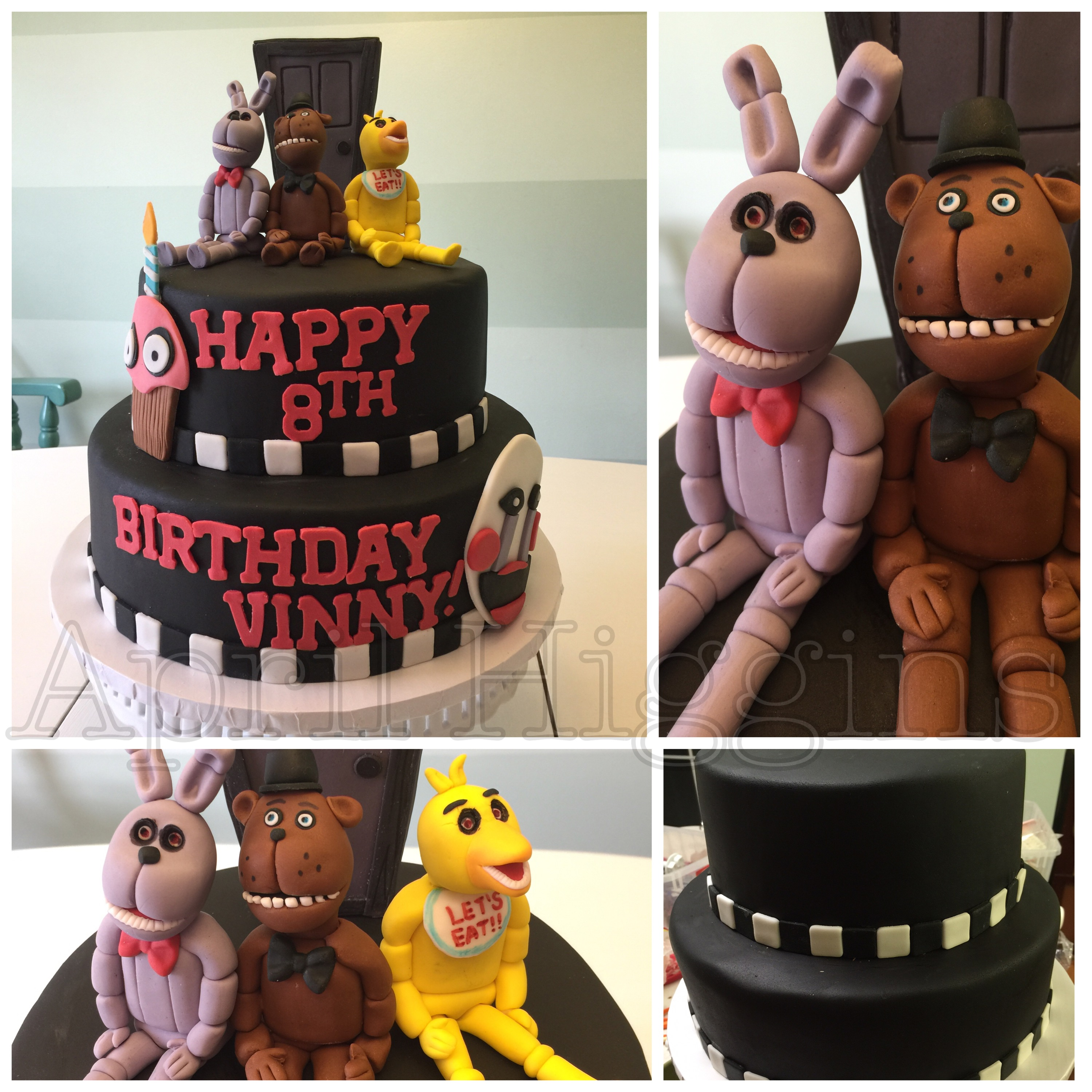 Five Nights At Freddy S Birthday Cake 2 Birds And A Boss