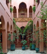 One of two open courtyards