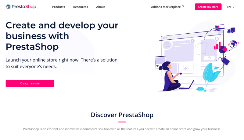 Create an Ecommerce Store with Prestashop