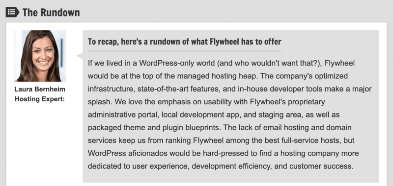 Lauran Bernheim on Flywheel Hosting