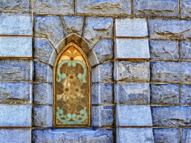 Window at Oakland Cemetery