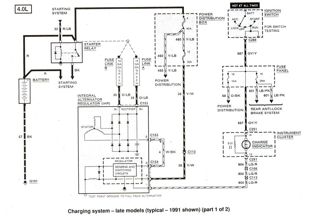 My Alternator Quit Charging: 94 Ranger 4x4 4.0L I Have