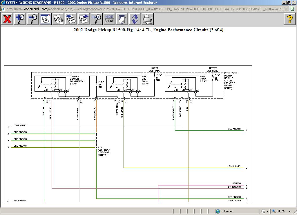 Fuel Pump Wiring Diagram: V8 Two Wheel Drive Automatic