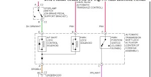 Wire Diagram for Shift Lock Solenoid: Hello How Are You