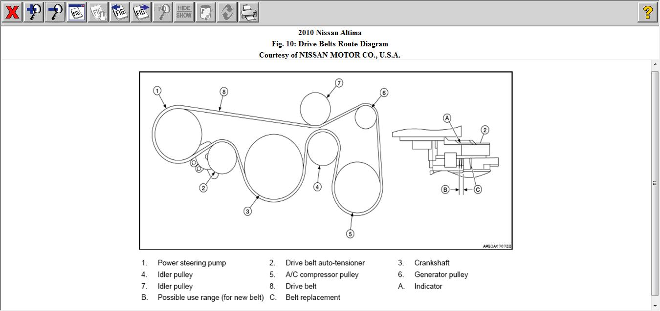 Drive Belt Routing 2010 Nissan Altima: Is The Drive Belt