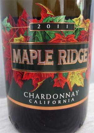 2011 Maple Ridge Chardonnay