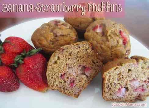 Banana Strawberry Muffins