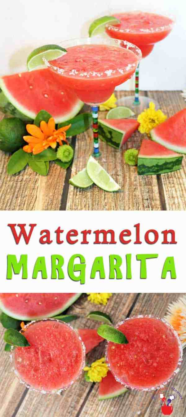 Watermelon Margarita | 2 Cookin Mamas A Watermelon Margarita is made for summer! A refreshing combination of juicy watermelon, tequila & a touch of lime makes this a perfect thirst quencher.