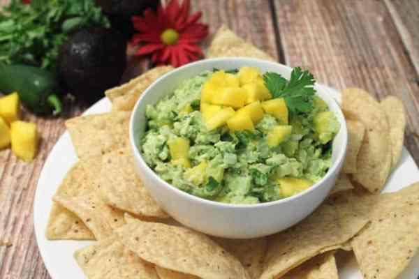 Mango Pineapple Guacamole 4 | 2 Cookin Mamas