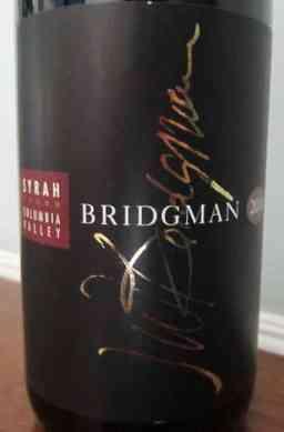 2010 Bridgman Syrah