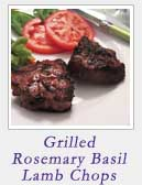Grilled Rosemary Basil Lamb Chops