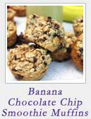 Banana Chocolate Chip Smoothie Muffins | 2 Cookin Mamas