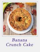 Banana Crunch Cake | 2 Cookin Mamas