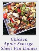 Chicken Apple Sausage Sheet Pan Dinner | 2 Cookin Mamas